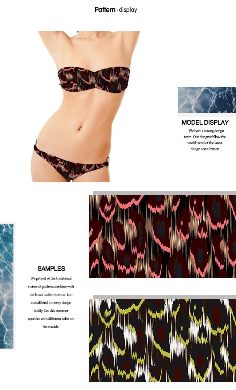 Polyester Spandex Printed Swimwear Fabric/ Jersey Garment Fabric