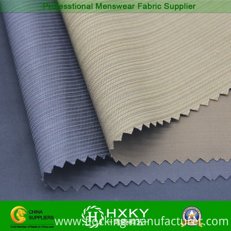 T400 Fiber with Striped Polyester Spandex Fabric for Jacket