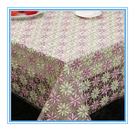 PVC Lace Table Cloth in Roll China Factory Oko-Tex 100