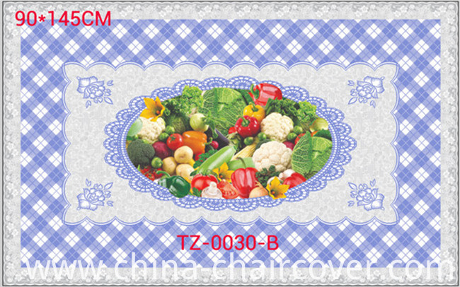 LFGB All in One Independent Design (TZ-0024) Printed Transparent Tablecloth 90*145cm