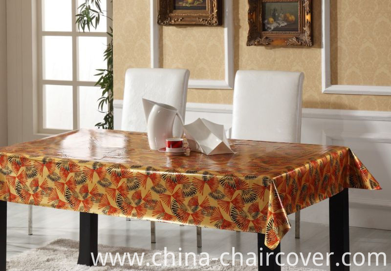 Popular Design Embossed Grain PVC Printed Tablecloth Wholesale Factory