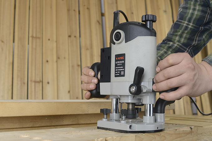 Profesisonal Power 1400W 12mm Adjustable Wood Router (AT2713)