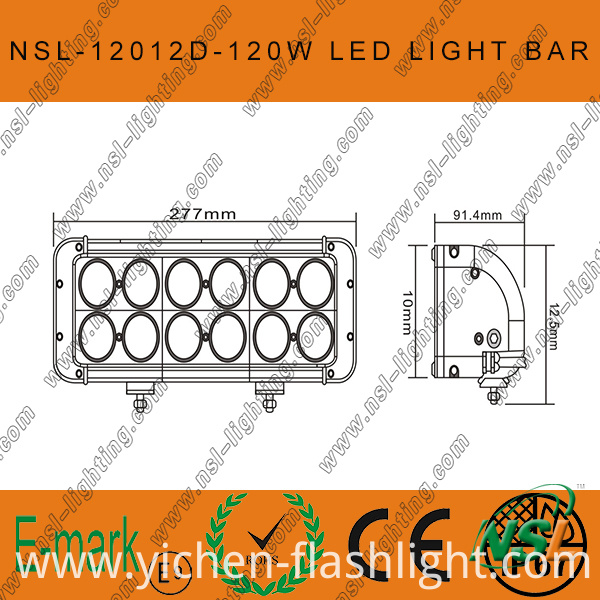 120W 4X4 CREE LED Car Light, off Road, Auto LED Light Bar LED Driving