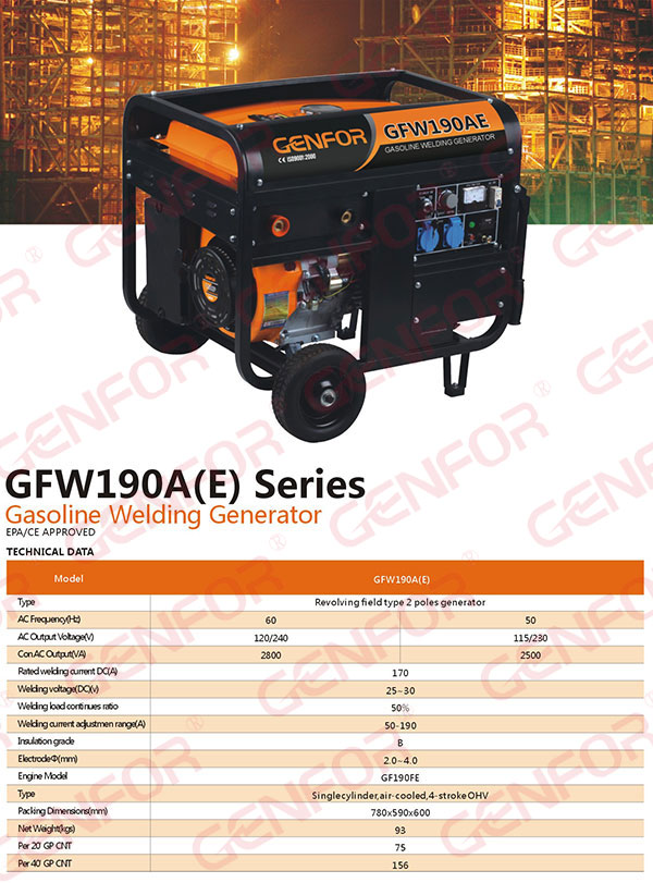 Gasoline Welder Generator Double Use Machine 100A-300A