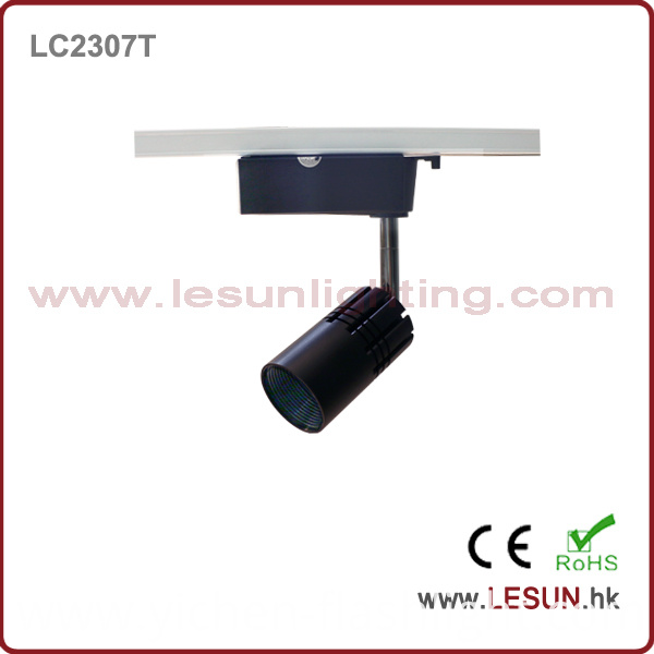 Small Size 7W 3 Wire COB LED Track Light with Black Color LC2307t