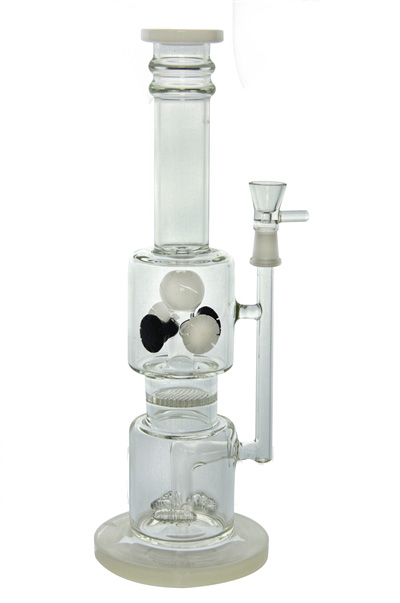 4 Showerheads Cross-Crystal Ball Glass Water Pipe for Smoking (ES-GB-452)