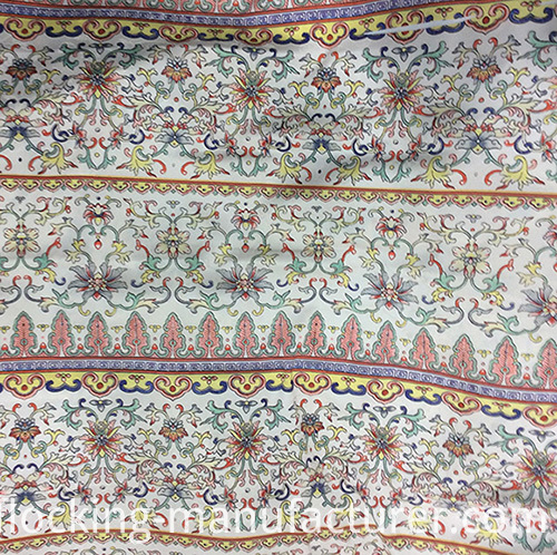 Flower Striped Polyester Chiffon Woven Printed Gament Fabric