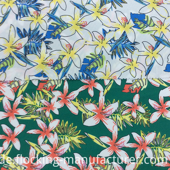 Flower Printed Polyester Garment Fabric/ Home Textile Fabric