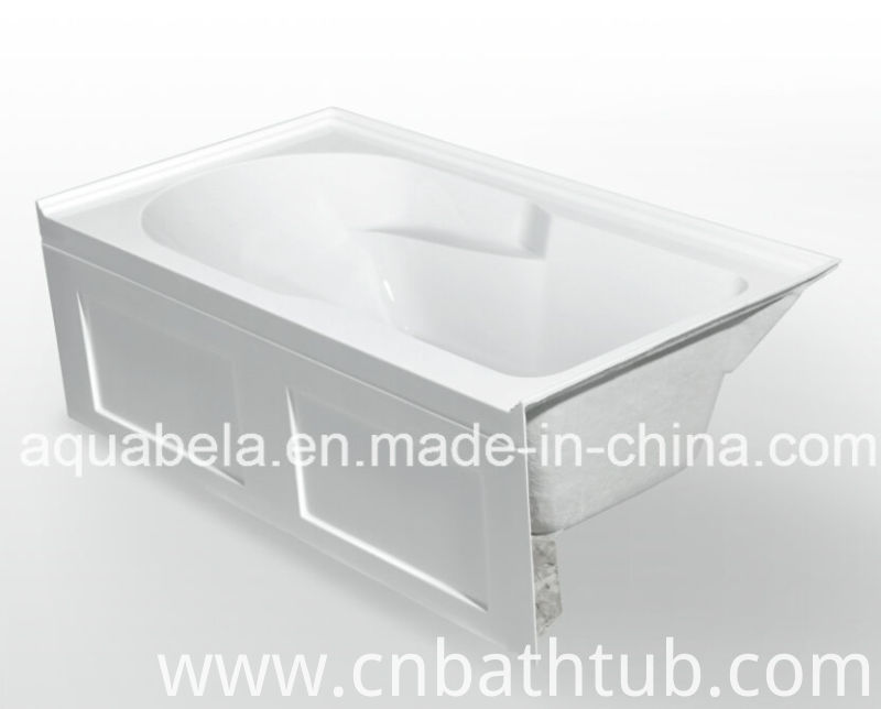 One Skirt Acrylic Build-in/Drop-in Building Materials Bathtub