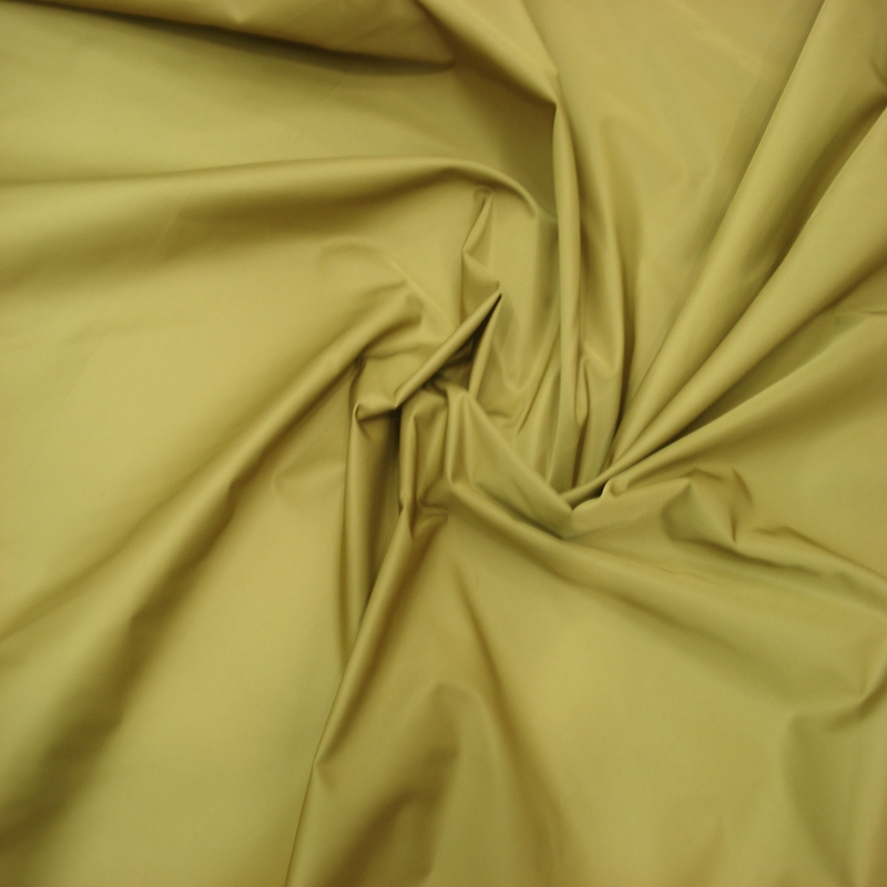 Yellow Color Polyester Winter Outer Wear Garment Fabric