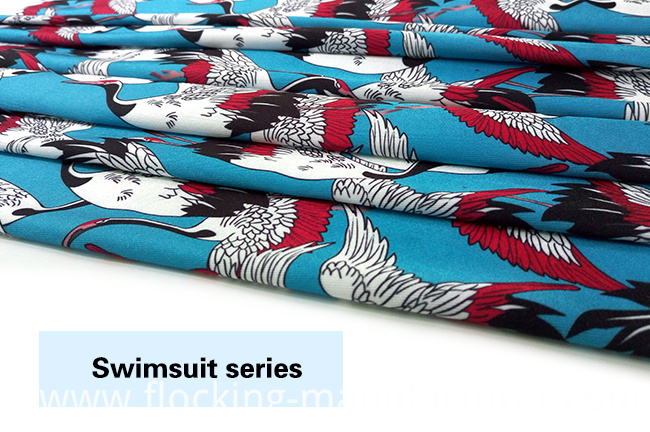 Digital Printed Polyester Spandex Fabric for Swimwear/ Jersey Garment