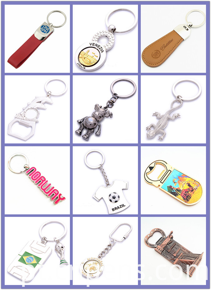 Rectangle Promotional Key Chain Gift Metal Keyring with Logo (F1045A)