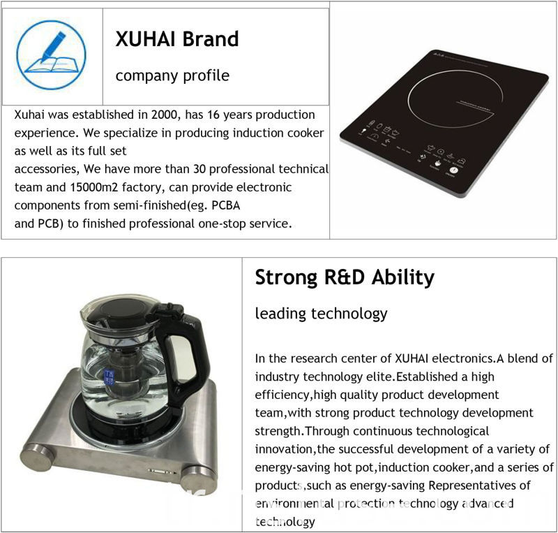 High Power Metal Housing Material Induction Cooker
