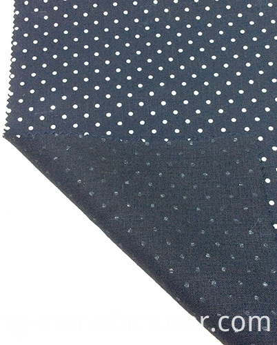 100% Linen Polka Dots Printed Garment/ Home Textile Fabric
