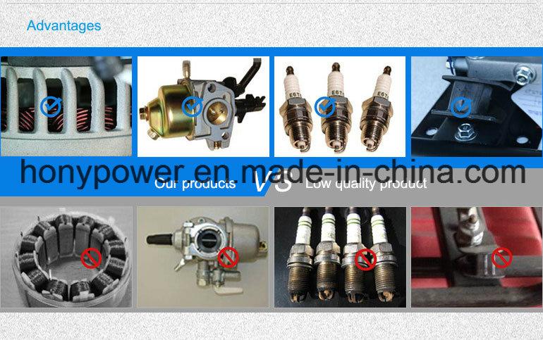 2500 2kw 165cc LPG Gasoline Generator