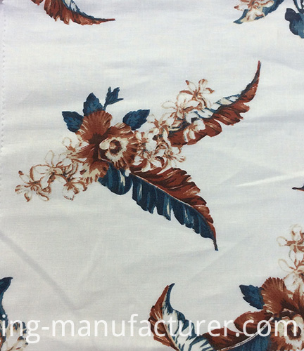 100% Linen Flower Printed Garment, Sofa, Cushion, Pillow Fabric