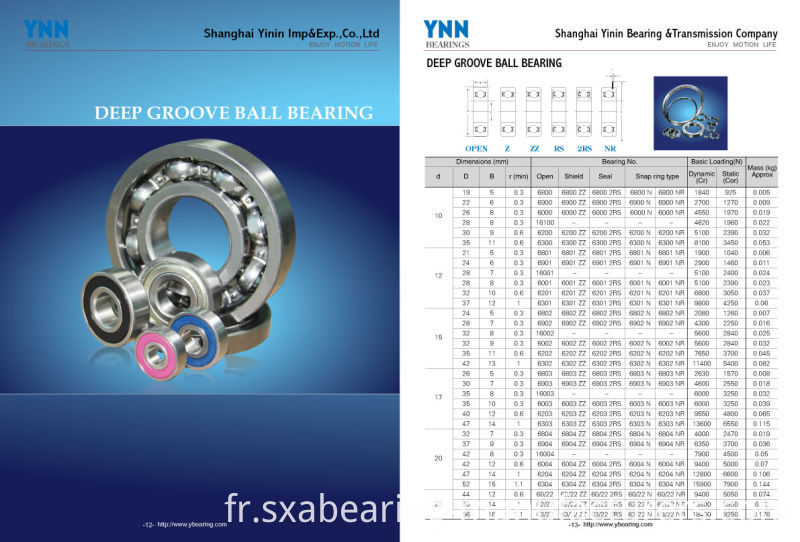 High Precision and Low Noise Rubber Sealed Bearing (6202 2RS)