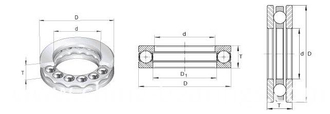 Small Size Chrome Steel Thrust Ball Bearing 51306 51308 51309 for Sliding Doors