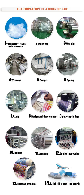 55% Linen 45% Cotton Printed Garment / Cushion Fabric