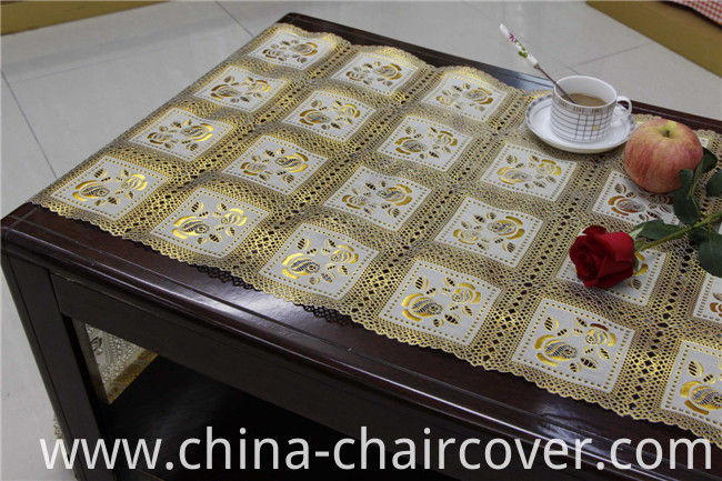 50cm*20m PVC Gold Lace Table Placemat for Home/Party/Wedding Use