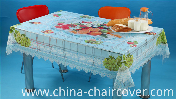 New Design in 2016 PVC Printed Transparent Tablecloth Independent