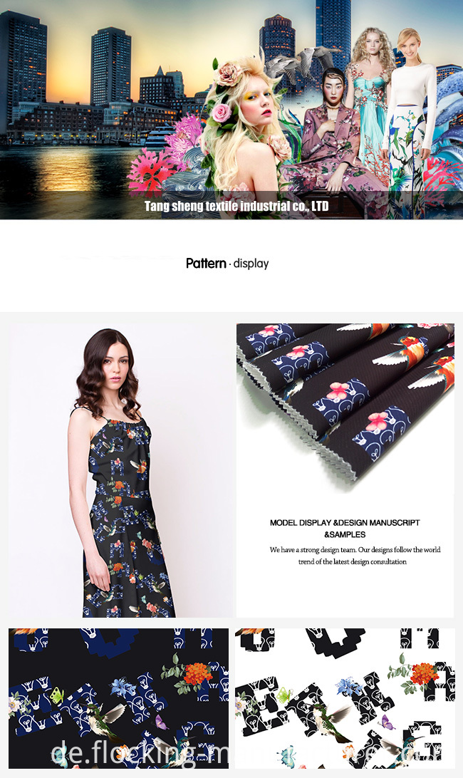 Printed Twill Dobby Fabric for All Kinds of Lady's Garment