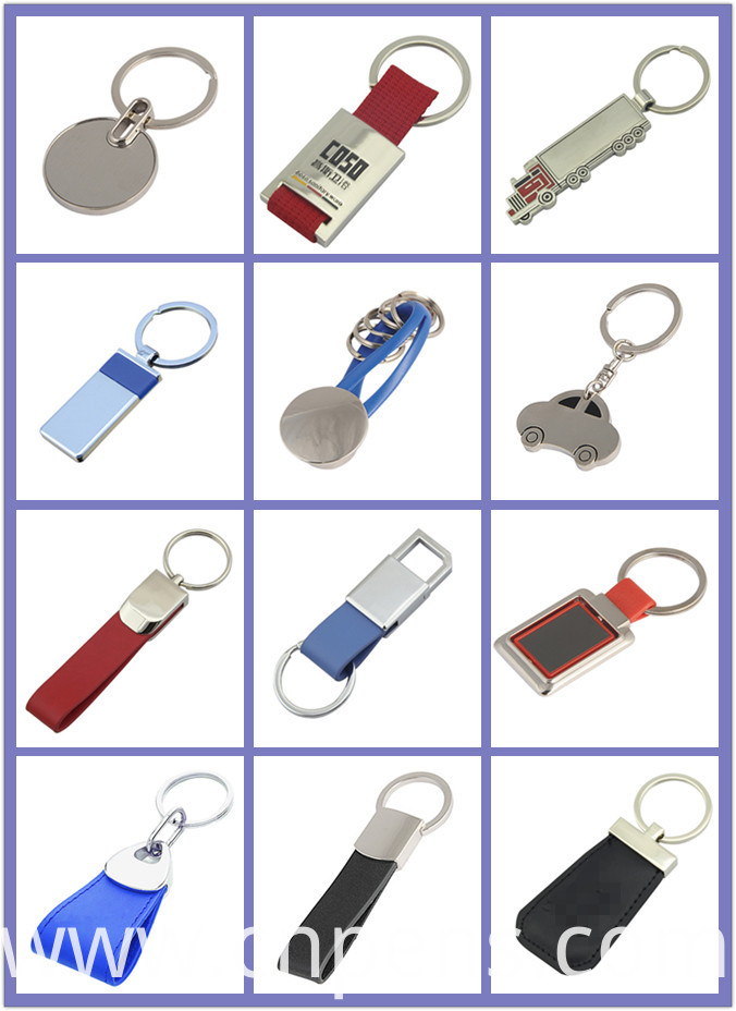 Promotional Gift Souvenir New Customized Logo Keyring Metal Keychain (F1003B)