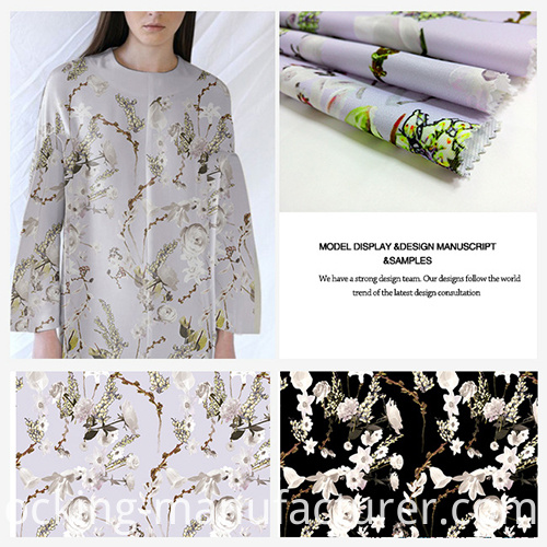 Printed Polyester Twill Fabric for Dress, Top, Skirt, Jacket