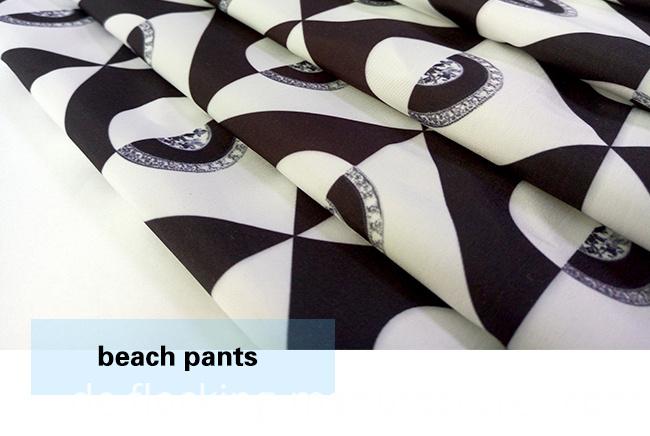 Abstract Digital Printed Beach Shorts/ Casual Garment Fabric
