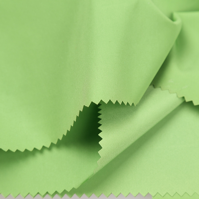 Green Color Shiny Memory Fabric for Fashion Mens Jackets