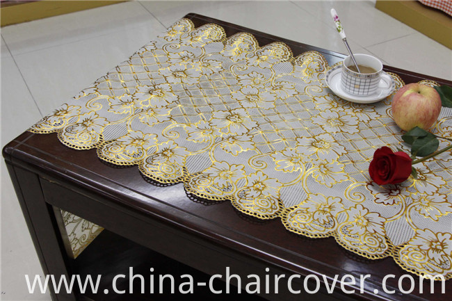 50cm*20m Gold PVC Vinyl Long Lace Doily Crochet Tablecloth in Roll