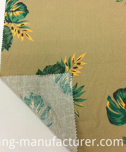 Linen Cotton Blended Printed Garment Fabric, Sofa/ Home Textiles Fabric