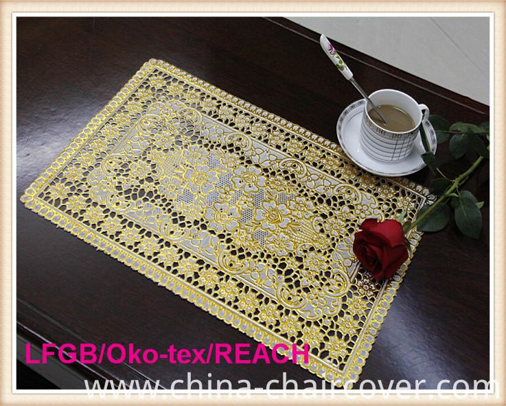 PVC Gold & Silver Plastic Table Mat