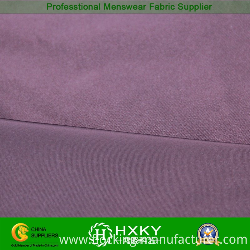 75D Lustrous Fiber with Twill Polyester Semi Memory Fabric for Bomber Jacket