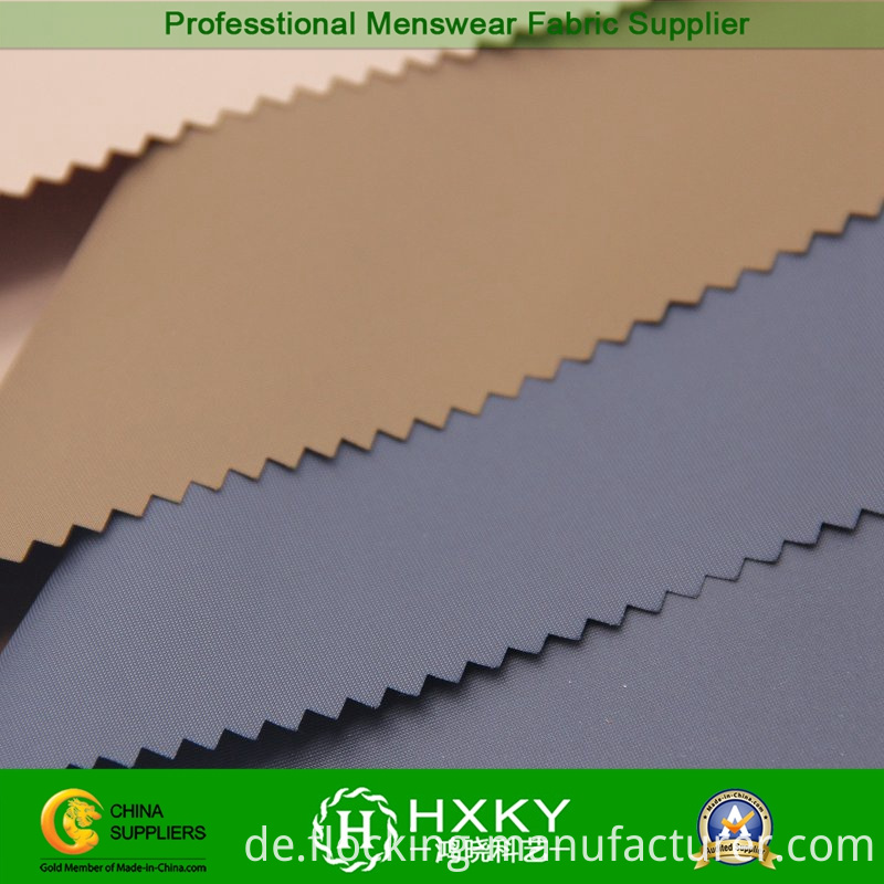 Filament Polyester Fake Memory Fabric for Trench Coat