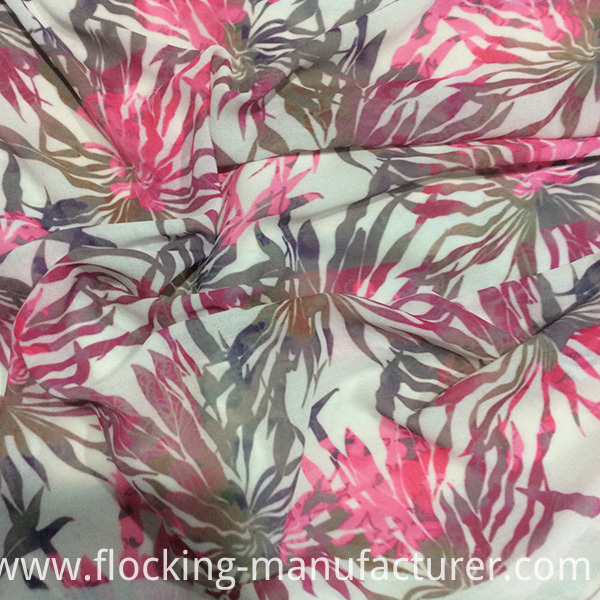 Polyester Printed Chiffon Dress/ Top/ Skirt Woven Garment Fabric