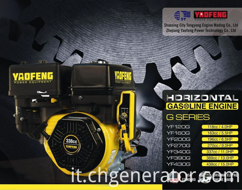 196cc 6.5HP Gasoline Engine with EPA, Carb, Ce, Soncap Certificate (YF200G)