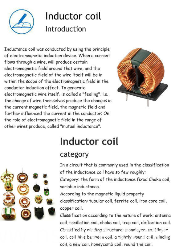 High Quality Ferrite Magnet Choke Coil Inductor