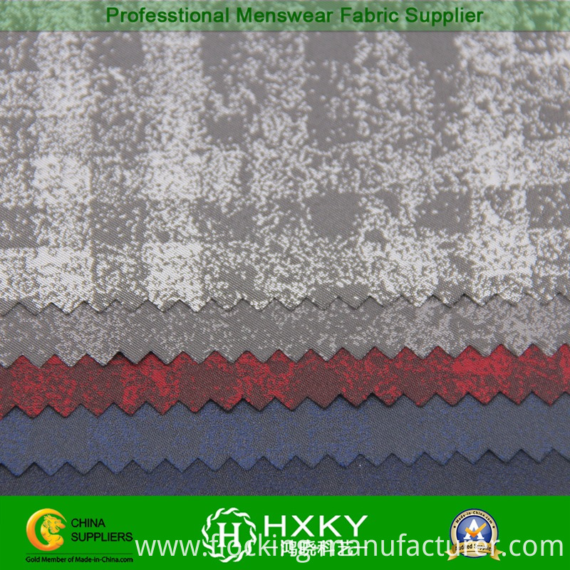 Yarn Dyed Poly Fabric with Gradient Color Plaids for Jacket