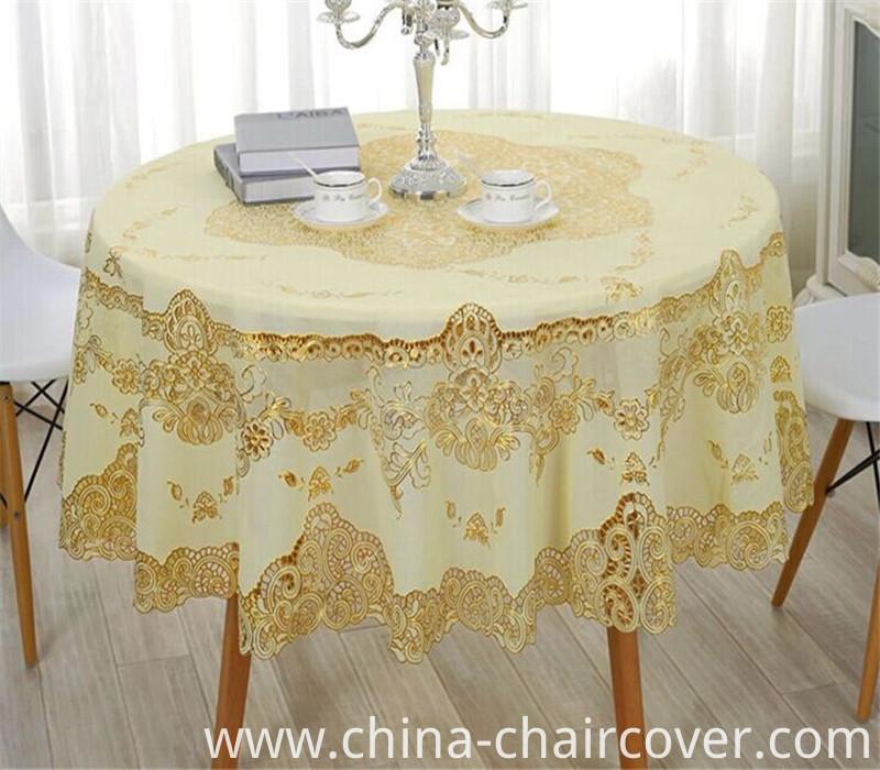 PVC Crochet Style Vinyl Lace Table Cloth