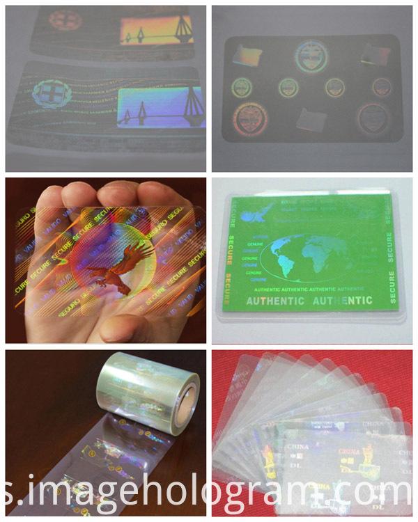 Transparent ID Card Hologram Lamination Film