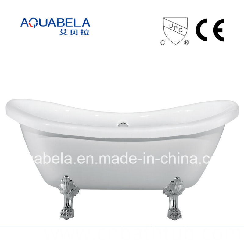 CE/Cupc Approved Pure Acrylic Double Ended Clawfoot Bathtub (JL643)