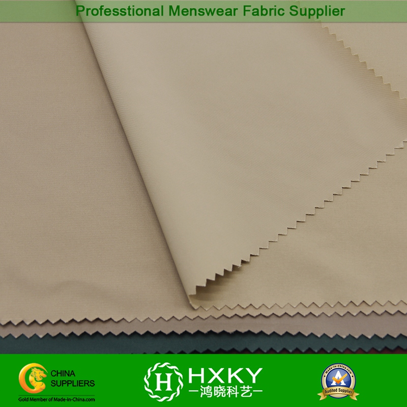 Semi Memory Polyester Spandex Fabric with T400 Fiber for Men's Long Trench