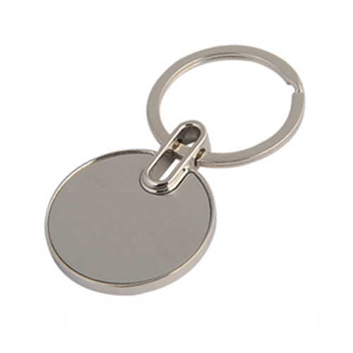 High Quality Promotional Logo Metal Round Keychain with Plastic (F1004A)