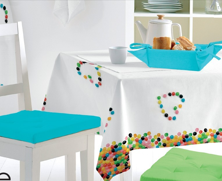 PVC Printed Pattern Tablecloth with 40g Nonwoven Backing (TJ0002)