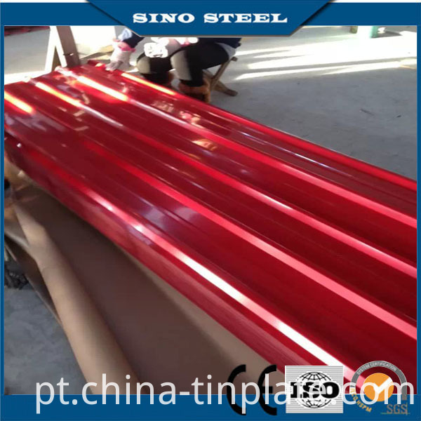 Color Coated Corrugated Steel Roofing Sheet with Film