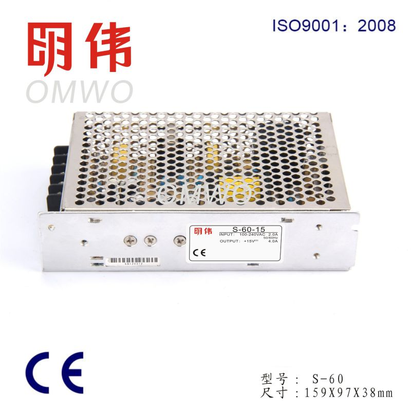 High Quality 5V 12V 24V 48V Power Supply 60W (S-60)