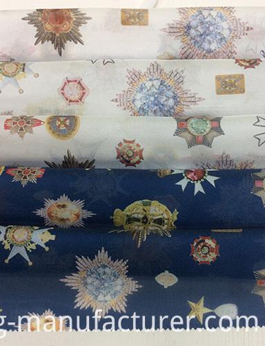 Polyester Digital Printed Organza Garment Fabric