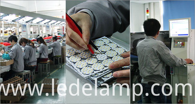 Aluminium Plastic 5W SMD GU10 LED Spotlight Bulb