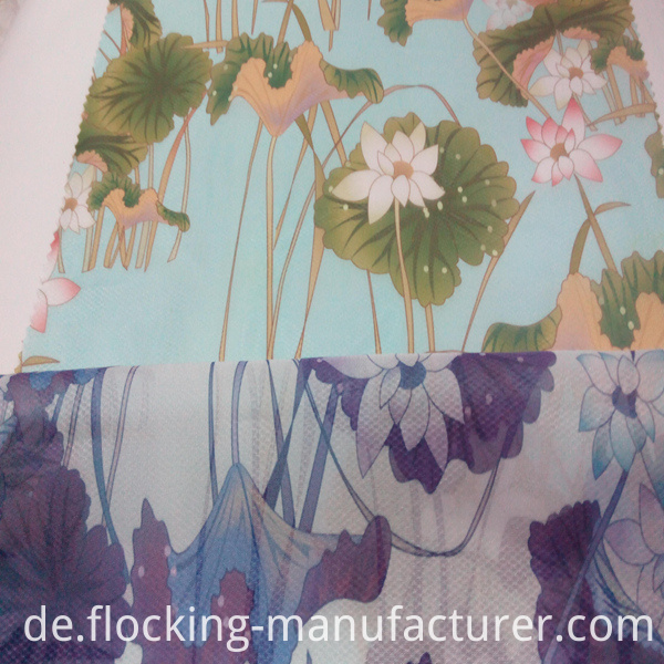 Beautiful Polyester Printed Garment Home Textile Dress Fabric